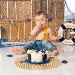 """smash the cake marin bleu et jaune"""